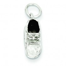 Baby Shoe Charm in 14k White Gold