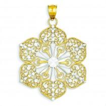 Filigree Pendant in 14k Yellow Gold