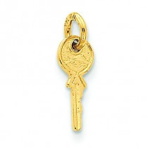 Small Key Charm in 14k Yellow Gold