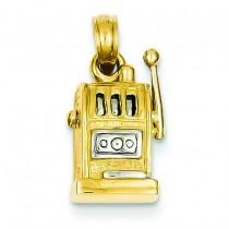 Slot Machine Pendant in 14k Yellow Gold