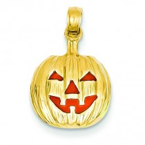 Inside Pumpkin Pendant in 14k Yellow Gold