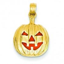 Inside Pumpkin Pendant in 14k Yellow Gold