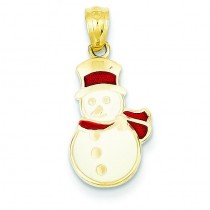 Snowman Pendant in 14k Yellow Gold