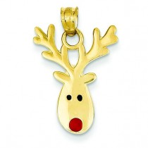 Reindeer Charm in 14k Yellow Gold