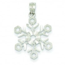 Snowflake Pendant in 14k Yellow Gold