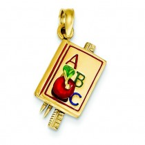 ABC School Book Pendant in 14k Yellow Gold