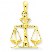 Scales Of Justice Pendant in 14k Yellow Gold