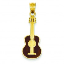 Guitar Pendant in 14k Yellow Gold