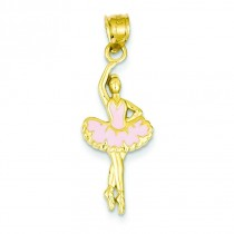 Pink Ballerina Pendant in 14k Yellow Gold