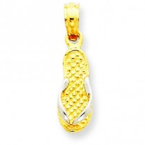 Single Flip Flop Pendant in 14k Yellow Gold