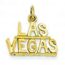 Las Vegas Pendant in 14k Yellow Gold