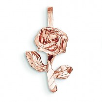 Rose Charm in 14k Rose Gold