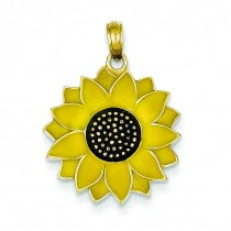Sunflower Pendant in 14k Yellow Gold