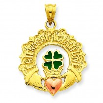 Claddagh Charm in 14k Two-tone Gold
