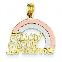 Follow Your Dreams Rainbow Pendant in 14k Yellow Gold