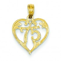 Heart Pendant in 14k Yellow Gold