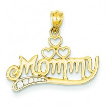 Mommy Pendant in 14k Yellow Gold