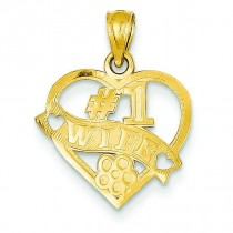 Wife Heart Pendant in 14k Yellow Gold