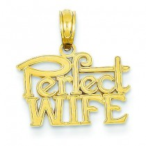 Perfect Wife Pendant in 14k Yellow Gold