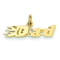 Flaming Dad Charm in 14k Yellow Gold