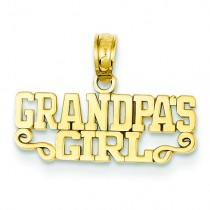 Grandpa Girl Pendant in 14k Yellow Gold