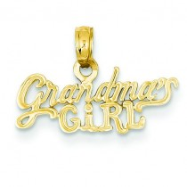 Grandma Girl Pendant in 14k Yellow Gold