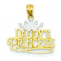 Daddy Princess Pendant in 14k Yellow Gold