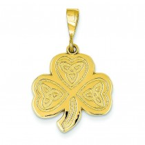 Trinity Clover Pendant in 14k Yellow Gold