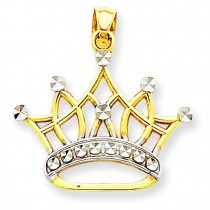 Crown Pendant in 14k Yellow Gold