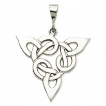 Trinity Pendant in 14k White Gold