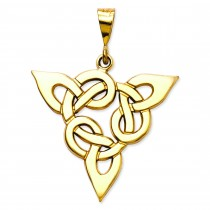 Trinity Pendant in 14k Yellow Gold