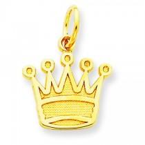 Kings Crown Charm in 14k Yellow Gold