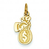 Money Bag Charm in 14k Yellow Gold