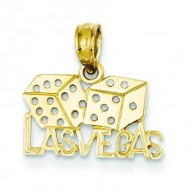 Las Vegas Dice Pendant in 14k Yellow Gold