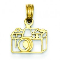 Camera Pendant in 14k Yellow Gold