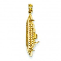 Cruise Ship Pendant in 14k Yellow Gold