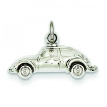 Car Charm in 14k White Gold