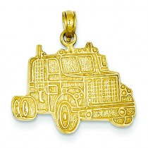Truck Cab Pendant in 14k Yellow Gold