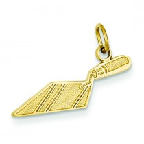 Brick Trowel Charm in 14k Yellow Gold