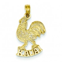 Kauai Rooster Pendant in 14k Yellow Gold