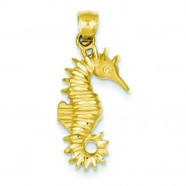 Seahorse Pendant in 14k Yellow Gold