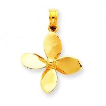 Propeller Pendant in 14k Yellow Gold