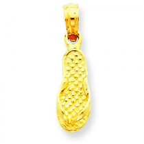 Flip Flop Pendant in 14k Yellow Gold