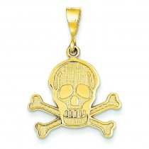 Skull Bones Pendant in 14k Yellow Gold
