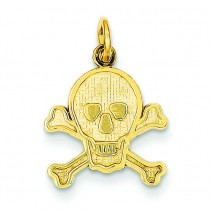 Skull Bones Charm in 14k Yellow Gold