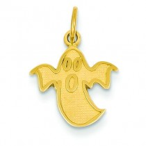 Ghost Charm in 14k Yellow Gold