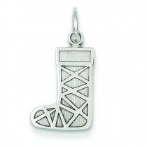 Christmas Stocking Charm in 14k White Gold