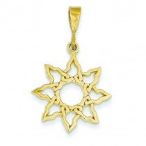 Sun Charm in 14k Yellow Gold