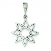 Sun Charm in 14k White Gold