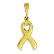 Heart In Awareness Pendant in 14k Yellow Gold